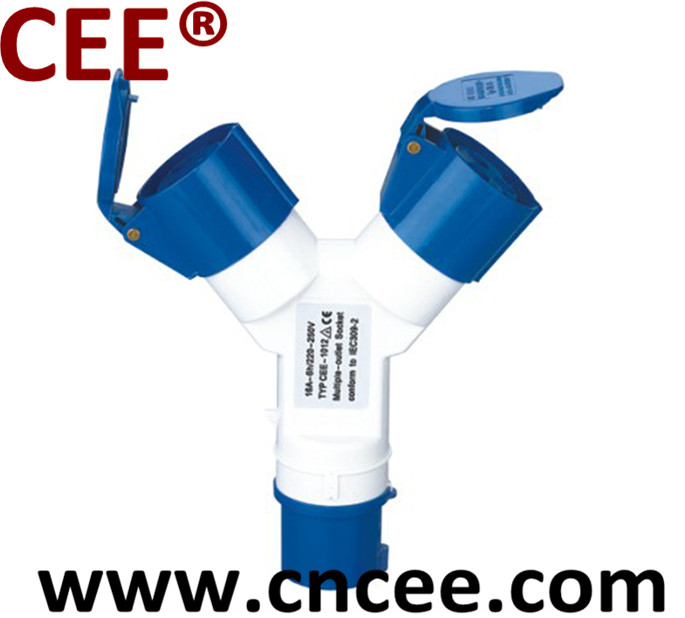 CEE Industrial multiple socket outlet, combination socket, plug socket