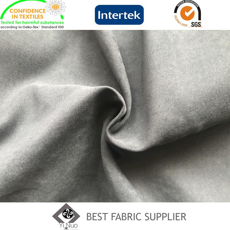 100% Polyester Micro Fiber 140GSM Satin Peach Skin Fabric Coat Fabric