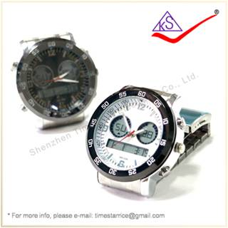 Made in China Manufacturer Stainless Steel Silicone Rubber Jelly Quartz Analog Sports Wrist Watch