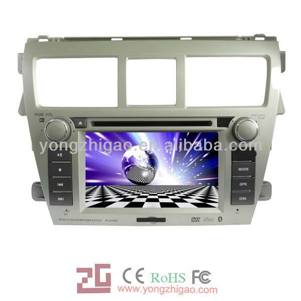 HD touch screen car dvd player for Toyota-Vios(2008-2011) with gps navigation system