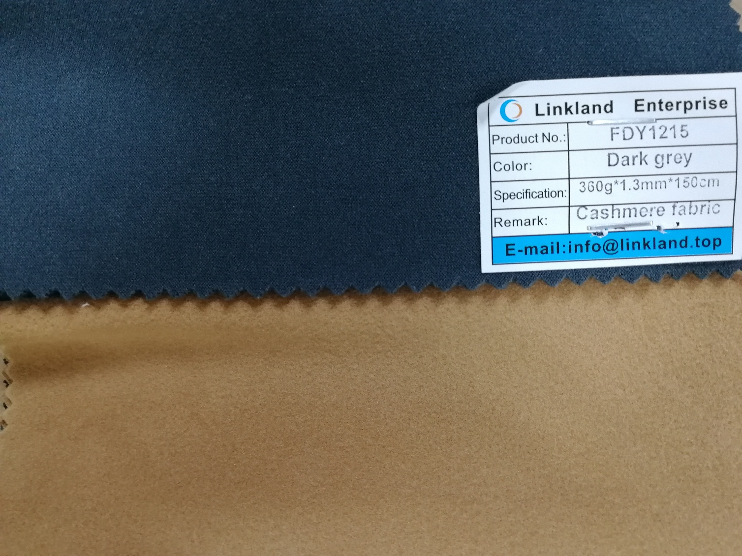 CASHMERE FABRIC FOR LEATHER BACKING
