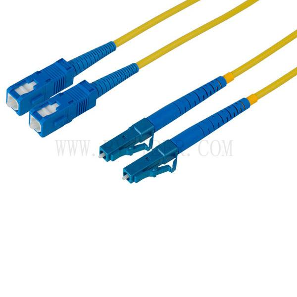 LC/PC to SC/PC Singlemode Duplex Fiber Optic Cable
