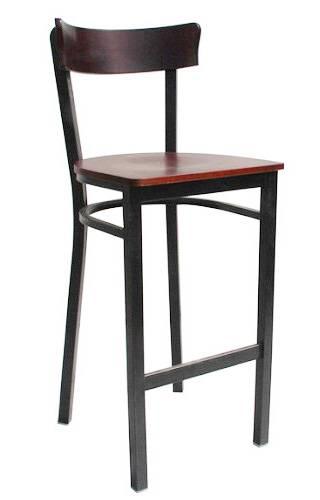 plain wood metal barstool bar furniture bar chair