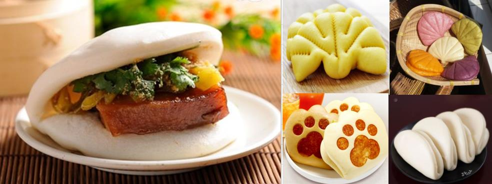 Traditional Chinese Frozen Dim Sum Snack Food Gua Bao Steamed Bun Factory Made Chinese Hamburger