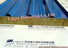 Corrugated ceiling Sandwich Panel