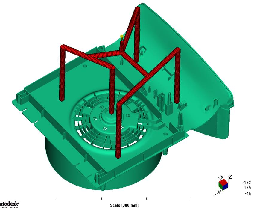 moldflow analysis for automotive plastic injection mold