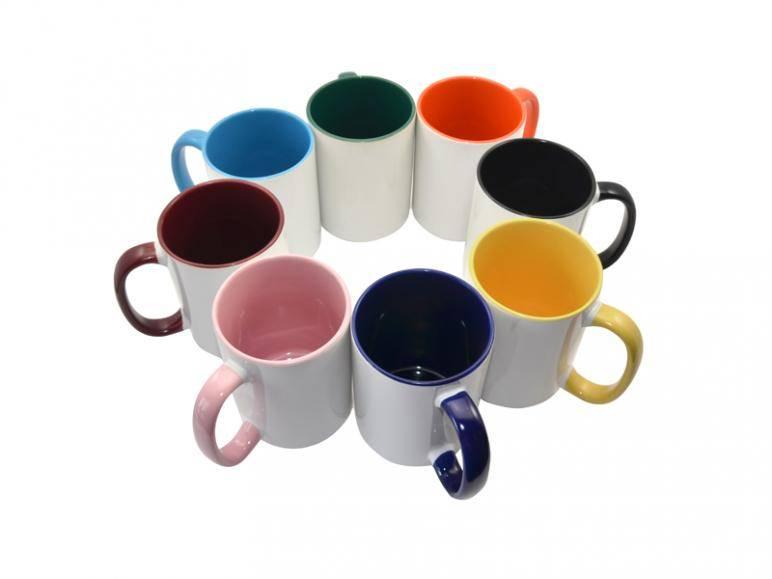Photo Mugs--11oz two tone color mug