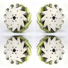 A set of 10inch(254mm) mecanum wheel with PU roller(Load cacipity 500KG) 14197