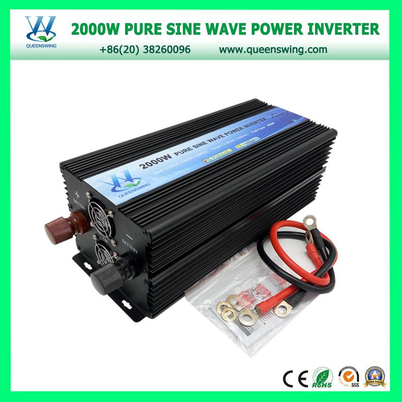 High frequency 2000W 12Vdc 220Vac Pure Sine Wave Solar Inverter with digital display (QW-P2000)