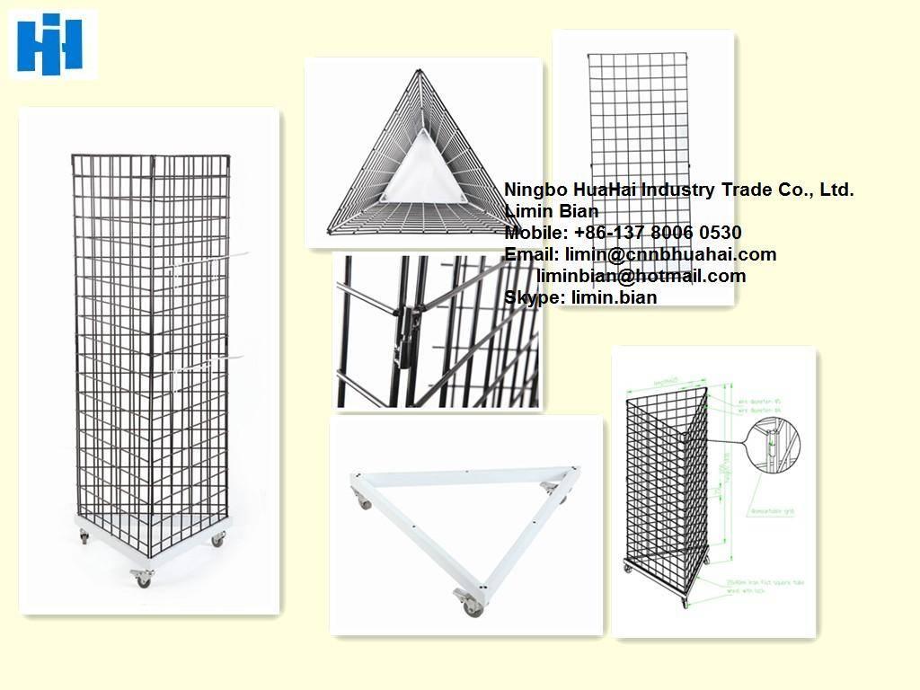 Triangular display stand