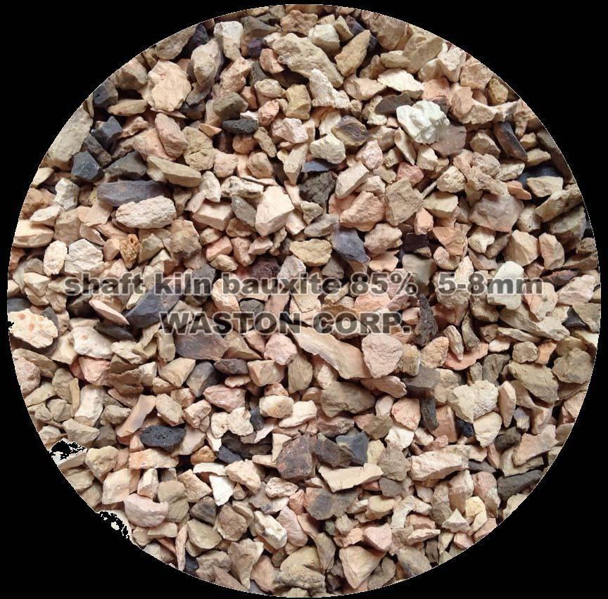 shaft kiln bauxite 85%(5-8mm)