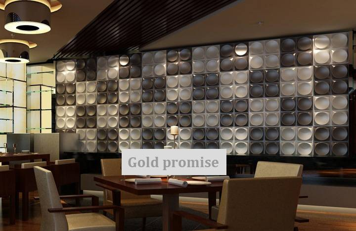 3D glue on wall panel exterior wallpaper hotel hall wall decor 12 panels 32 sqft