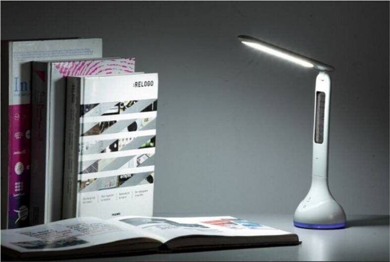 Desk Lamp with Rotation Folding, Calendar, Temperature Alarm Clock Function