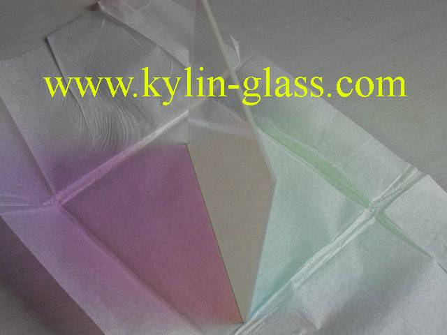 glass panel with coating