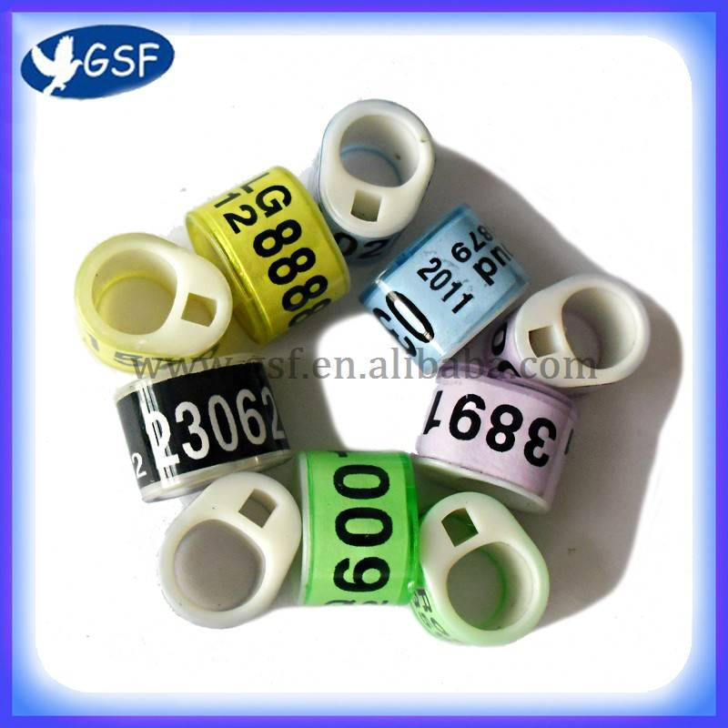 2012 hot sale unique design top quality extruder machine plastic leg ring for pigeon
