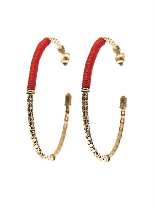 Fashion girl hook earrings with gold-plated