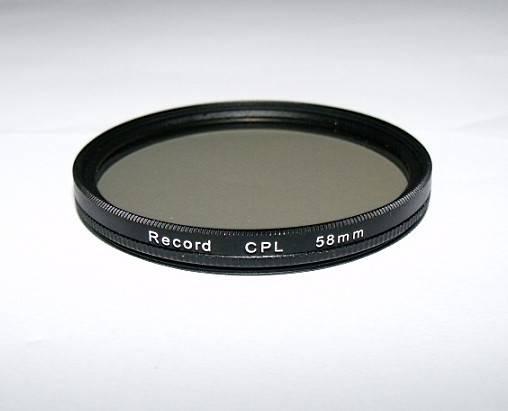 58mm circular polarizing filter camera CPL filter