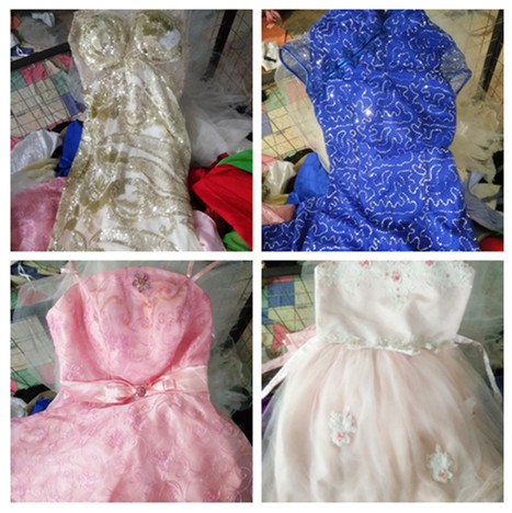used evening gown long dress women used clothes sale high quality second hand clothing