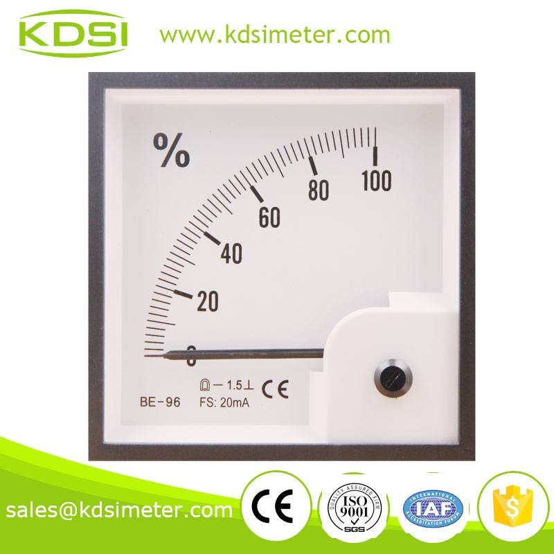 High quality BE-96 DC20mA 100% analog amps load meter