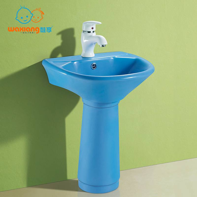 [Waxiang WB-2100]Child China White Mini Porcelain Pedestal Sink Toddler