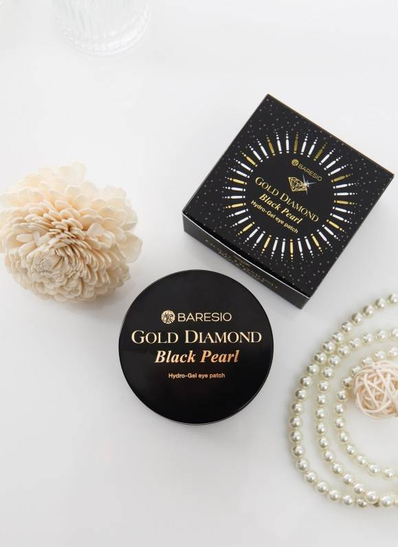 2016 Korean Cosmetic Baresio - Gold Diamond Black Pearl Hydro-Gel eye patch
