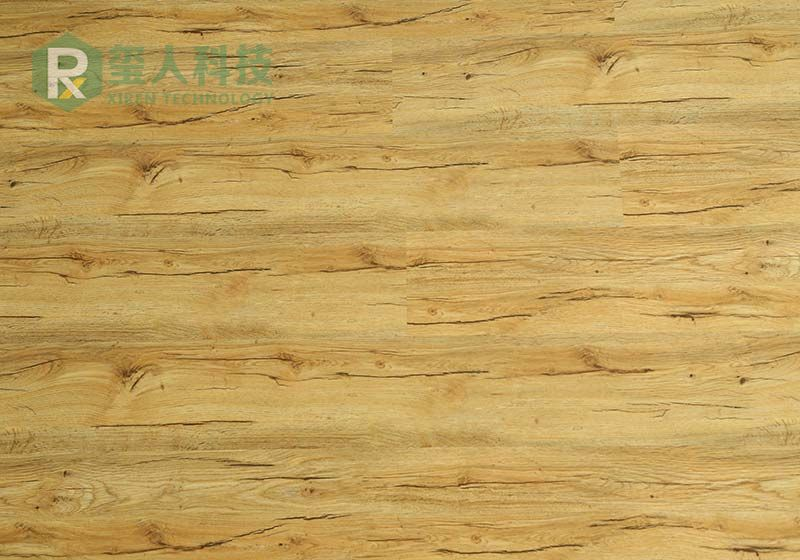 Light Brown Color Spc Click Lock Vinyl Flooring 1755