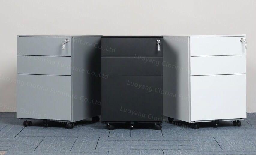 Office Furniture Filing Cabinet Steel Mobile Pedestal Mobile Drawer Cabinet