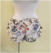 Comfortable girls wide leg chiffon pants printed chiffon dress fabric hot pom pom shorts