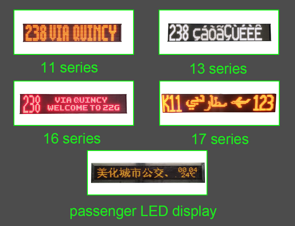 High brightness flexible SMD P13P14 outdoor led display panel for bus ,Scrolling destination sign b