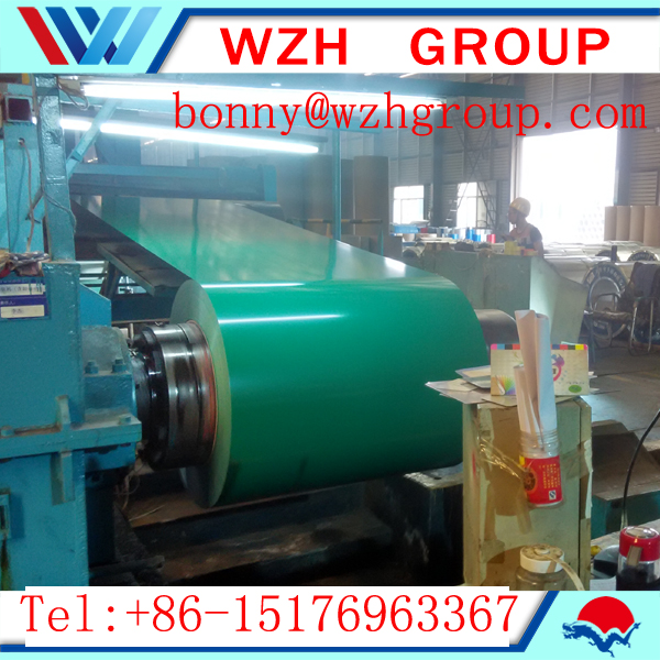 0.19mm prepainted steel coil / color coated steel coil as the construction material
