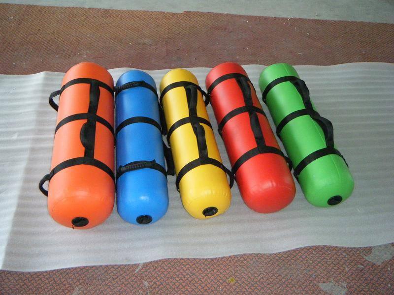 Fitness equipment aqua bags and aqua ball