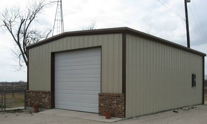 Light Steel Structure Fabric Storage Shed