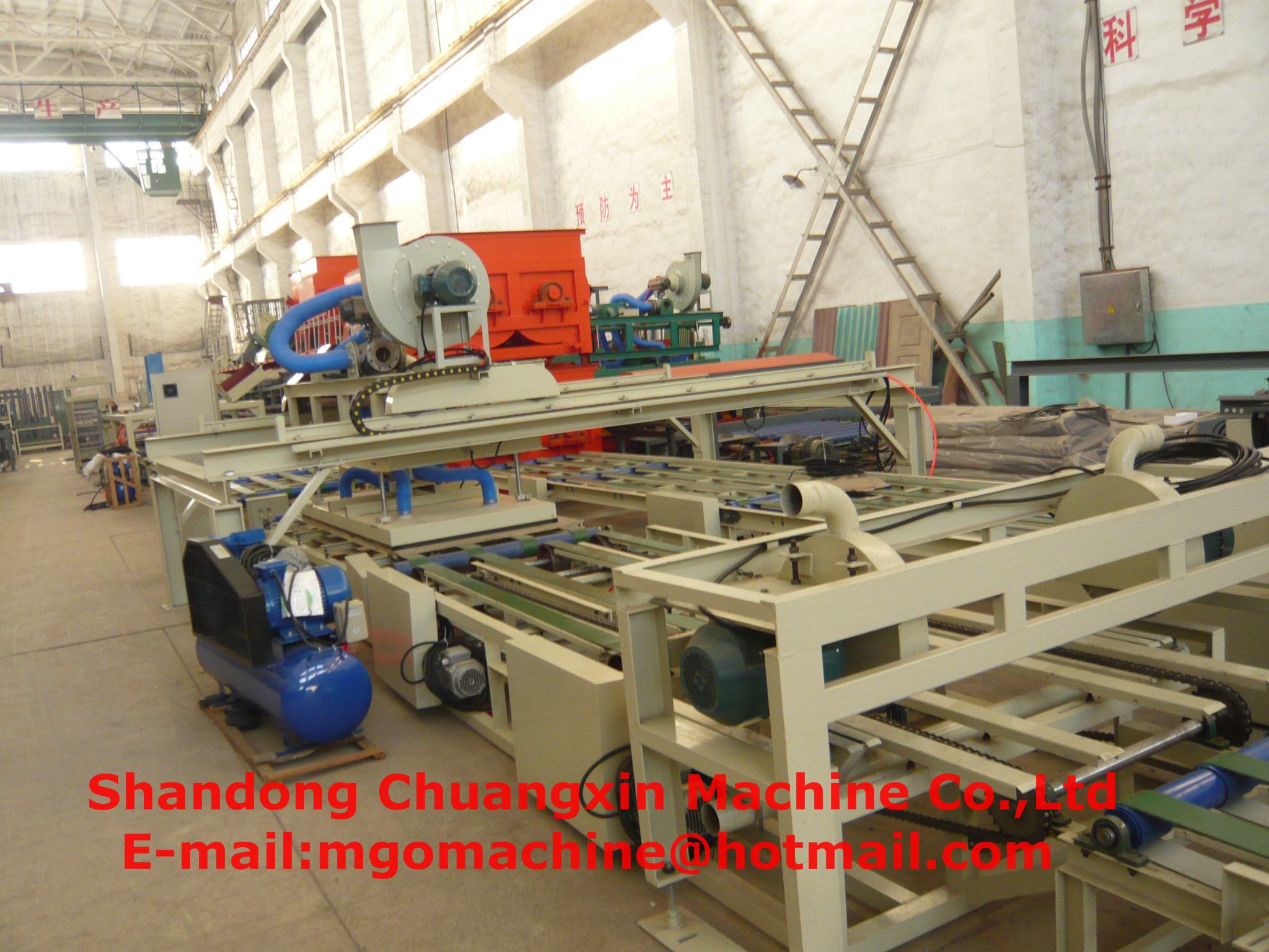 mgo baord making machine