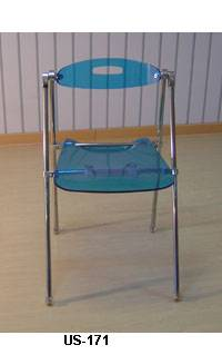 acrylic folding chair
