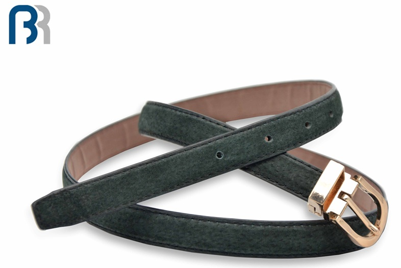 Ladies Adjustable Grey PU Belt