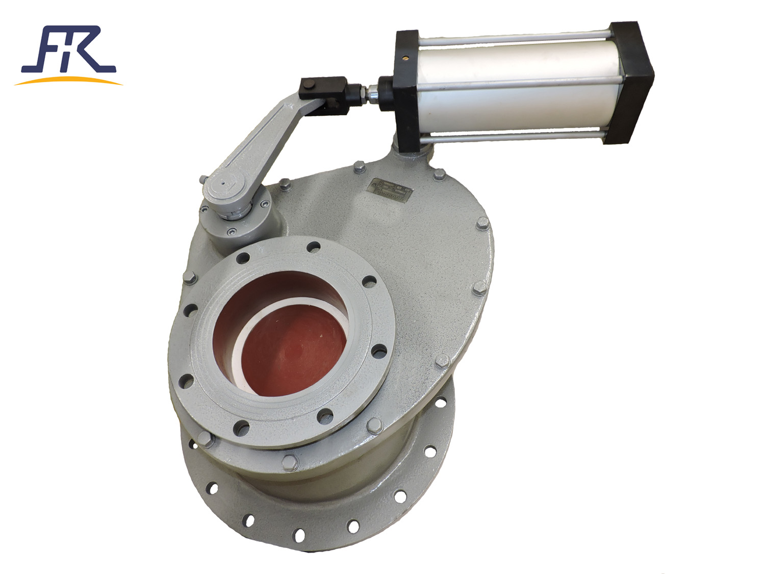 Pneumatic Ceramic Lined Rotary Gate Valve for fly ash system