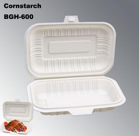 Biodegradable Disposable Eco-friendly Carry out Box From Natural Corn