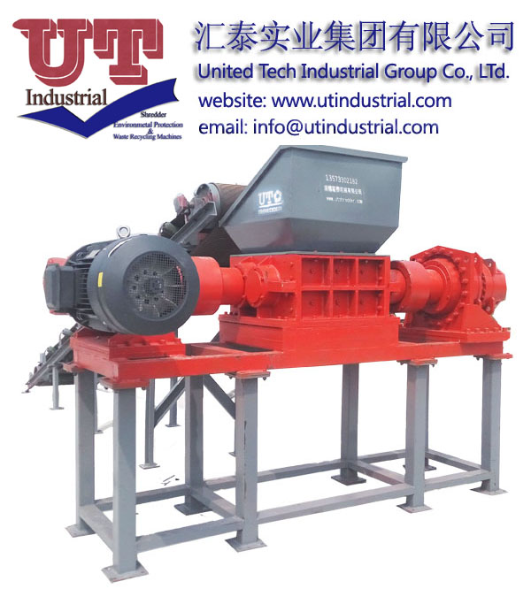 plastic recycling crusher, plastic shredder, double shaft shredder