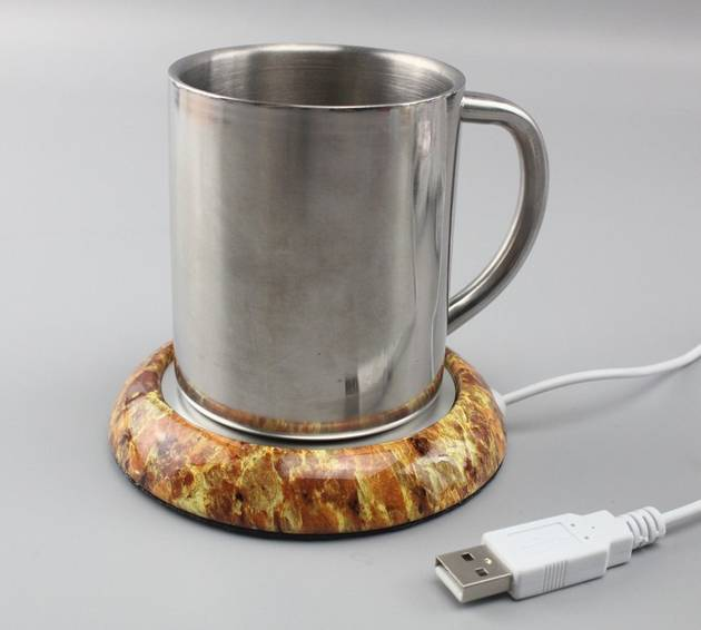 USB CUP WARMER wood surface, coffee cup warmer