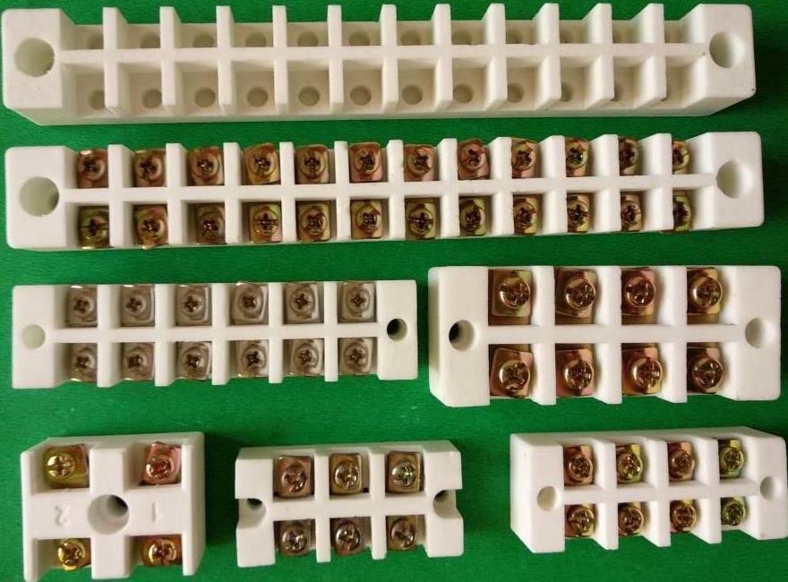Steatite ceramic terminal block