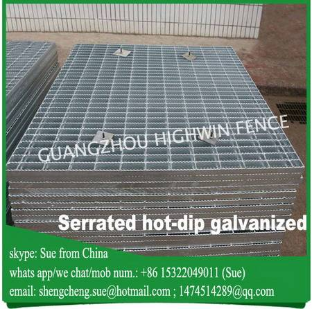 Export to New Zealand galvanized serrated grating