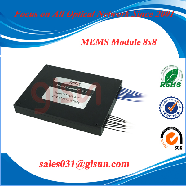 GLSUN 8x8 MEMS Fiber Optical Switch MEMS Module