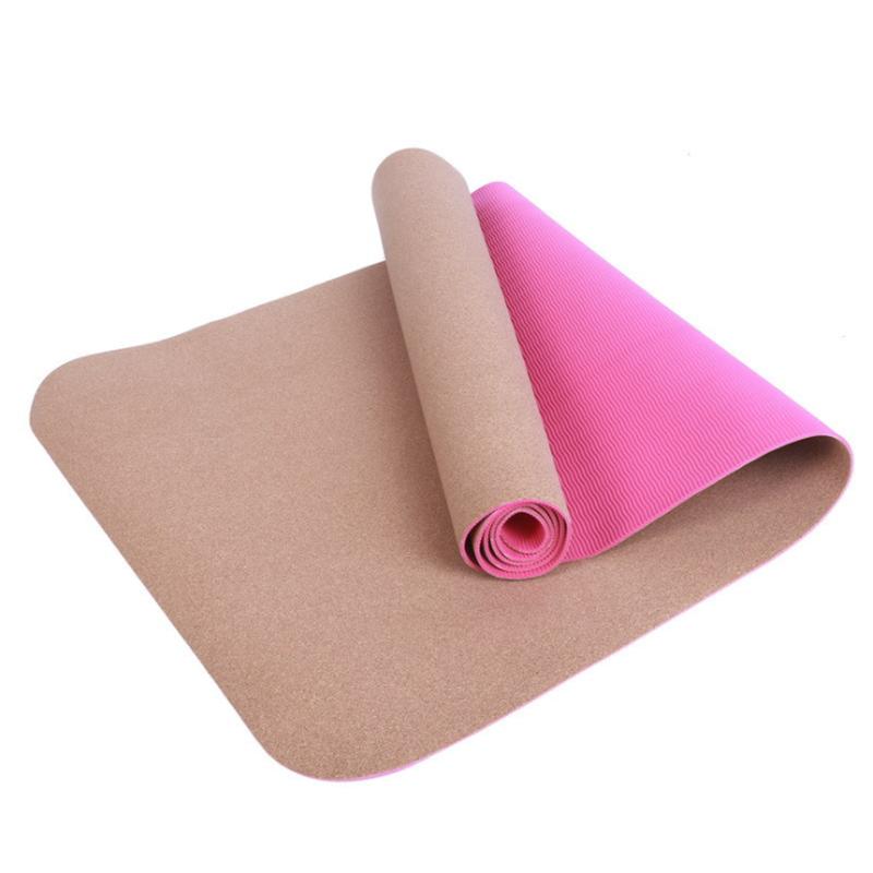 OEM Laser Label Pilates Cork Yoga Mat