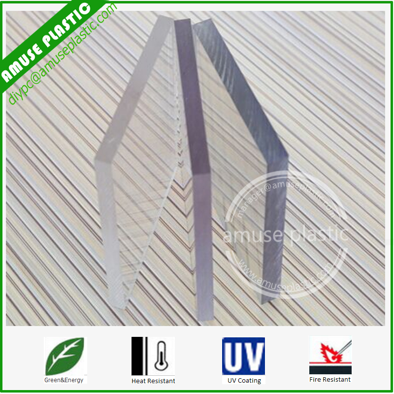 Transparent Hot Sell Ten-Year Warranty Polycarbonate Scratch Resistant Sheet with UV