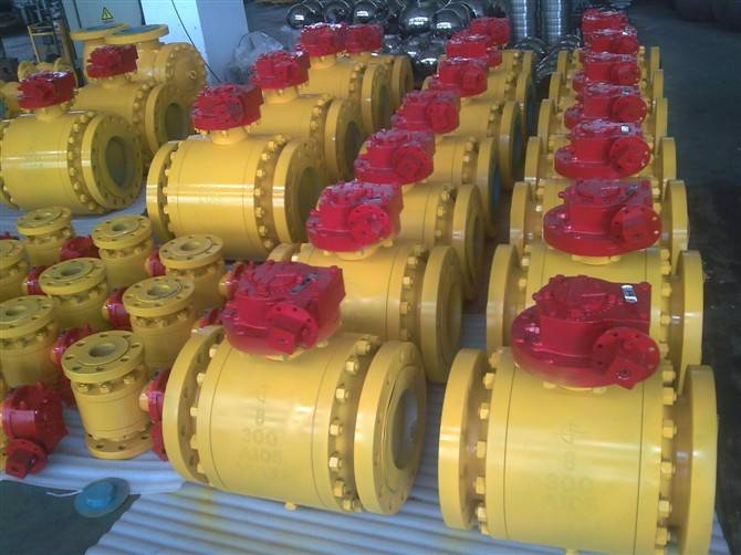 Forged trunnion ball valve