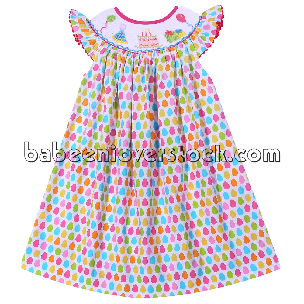 Adorable birthday smocked bishop dress