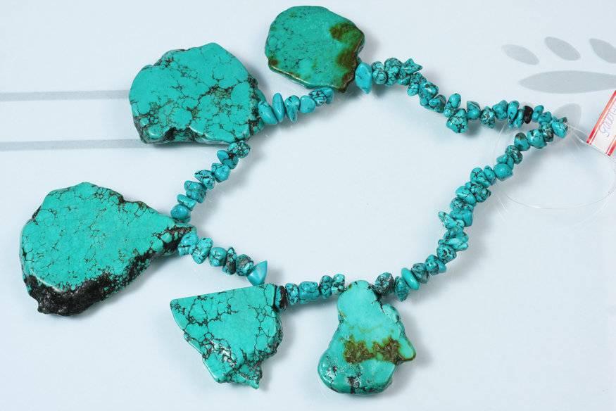 turquoise necklace ,gemstone\fashion jewelry