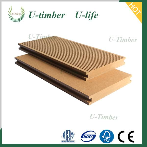 Anti-slip anti-UV decking materials wood colour wpc decking