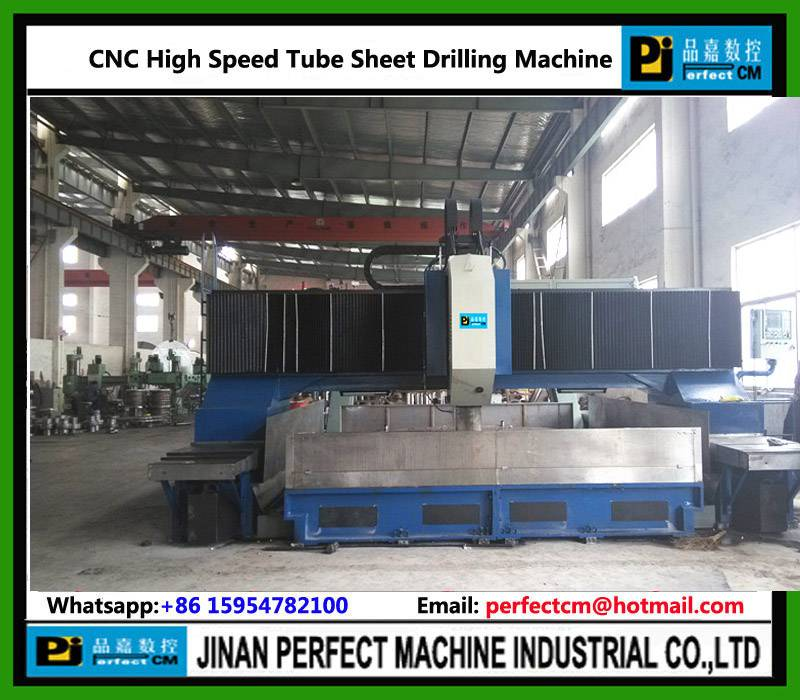 Heat Exchanger/Pressure Vessel High Speed CNC Drilling Machine for Tube Sheet