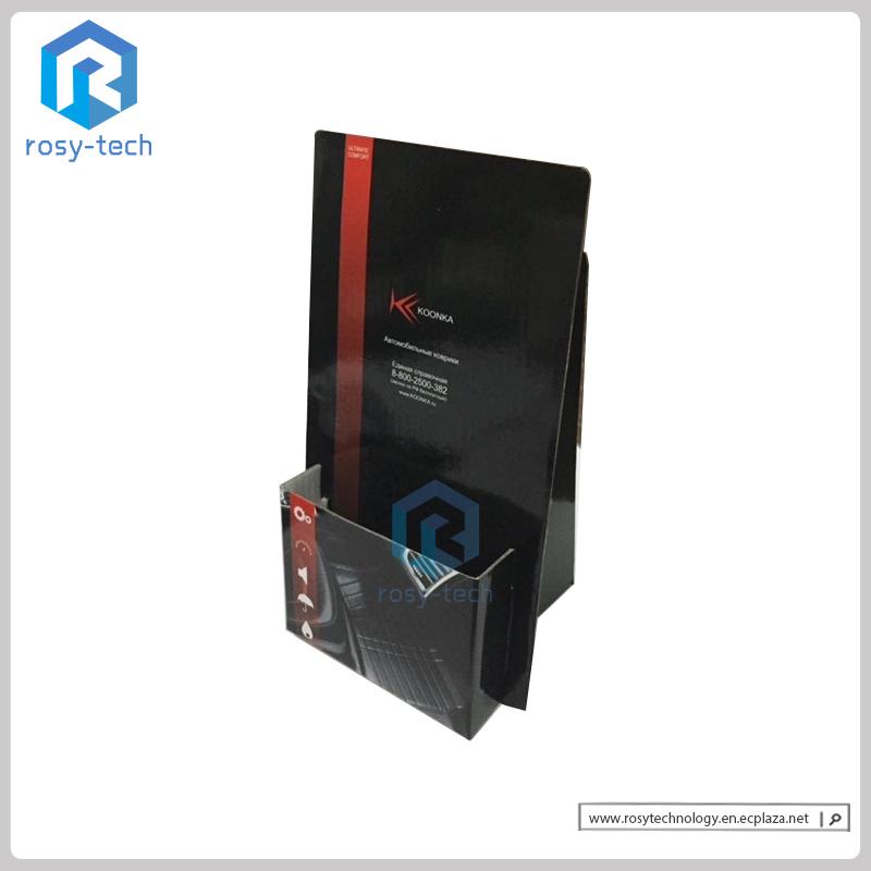 Corrugated Cardboard Countertop Display Small Brochure Holder Display